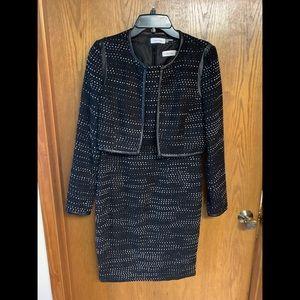 Calvin Klein 2 piece dress with jacket